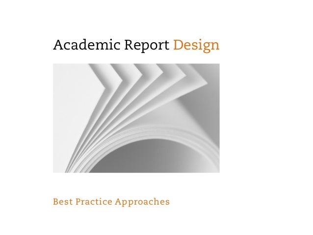 Academic report design