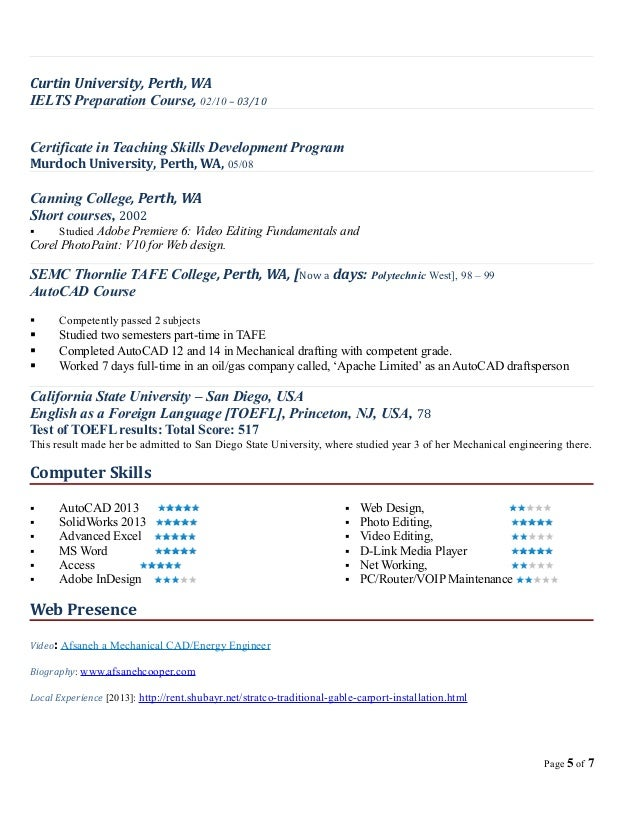 Resume for results perth