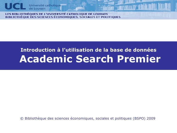 Academic Search Premier Bspo 2009 Onlineversion