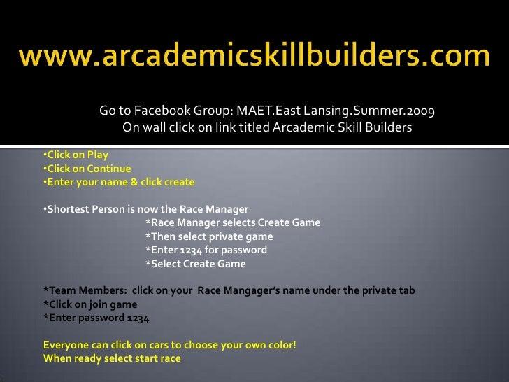 Arcademic Skill Buider Arcade