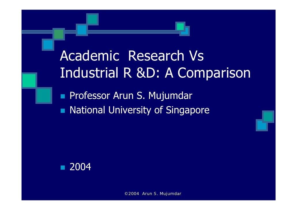 Academic vs industrial_RD