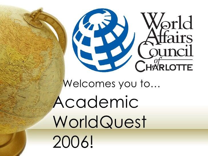 WACC Academic WorldQuest 2006