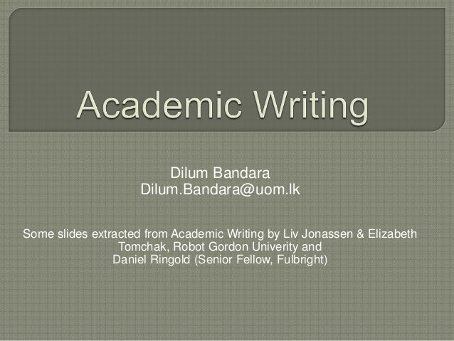 how to learn academic writing
