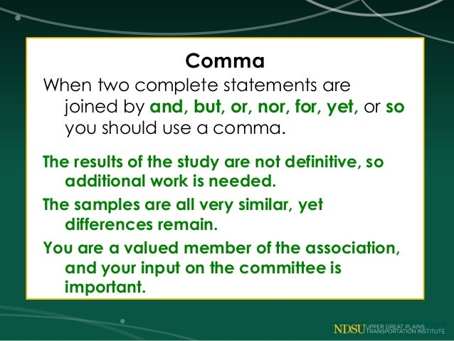 Writing with commas?