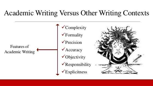 Academic writing vs other forms of writing