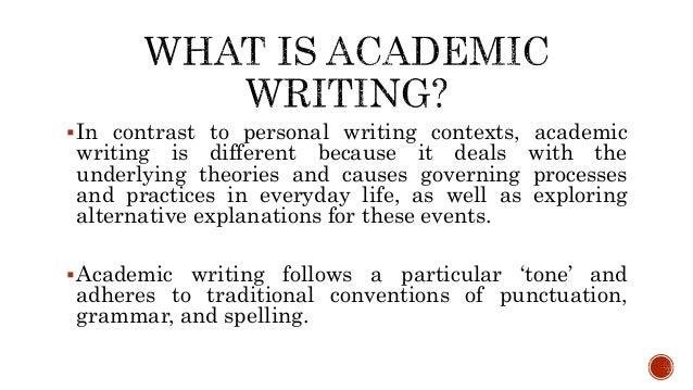 Kinds of academic writing