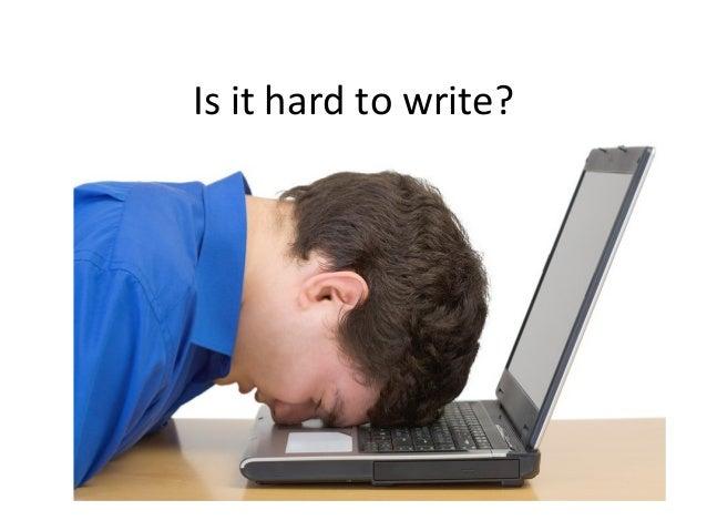 Academic writing is