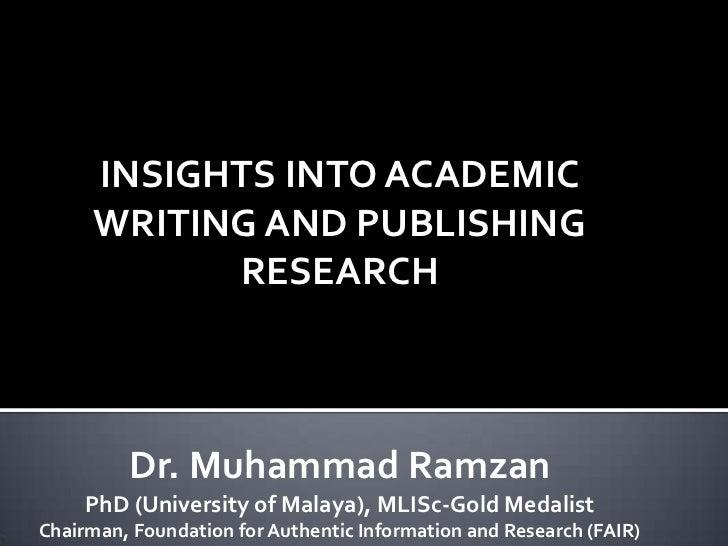 Academic writing and publishing research awku mardan