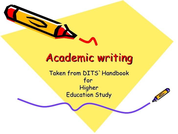 Academic Writing Dit Summary