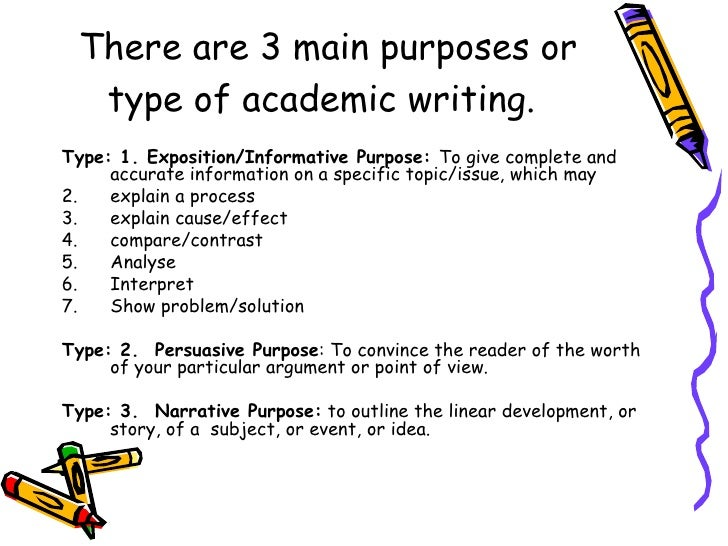 the purpose for which you are writing an essay