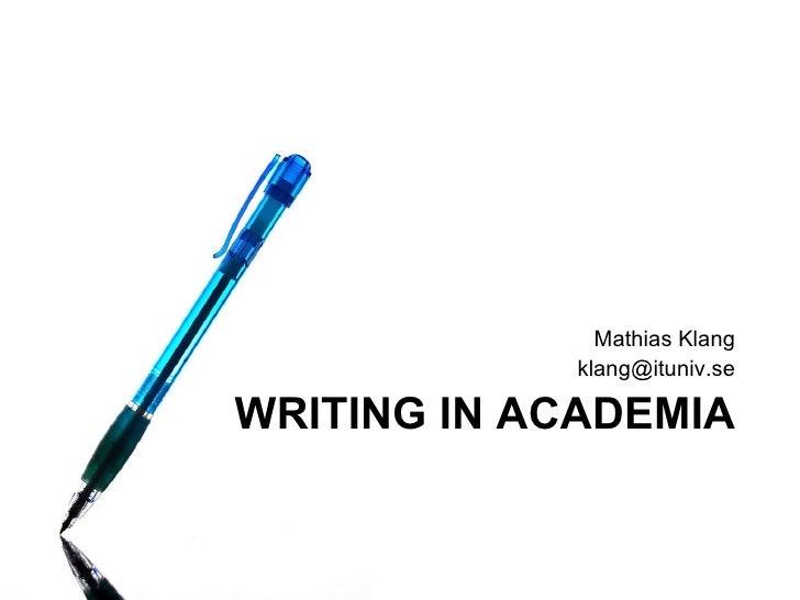Academic Writing Plagiarism Nov09