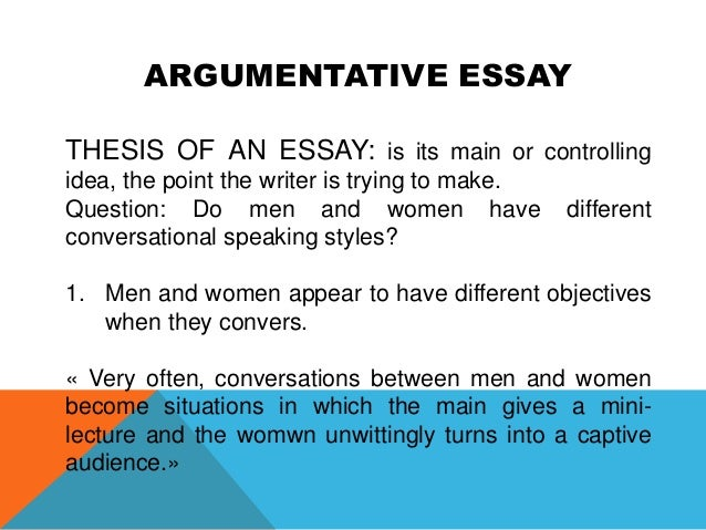 Point By Point Essay Format