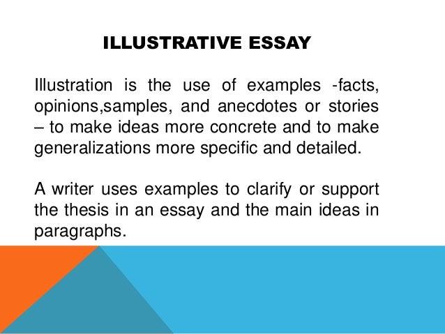 essay illustrative
