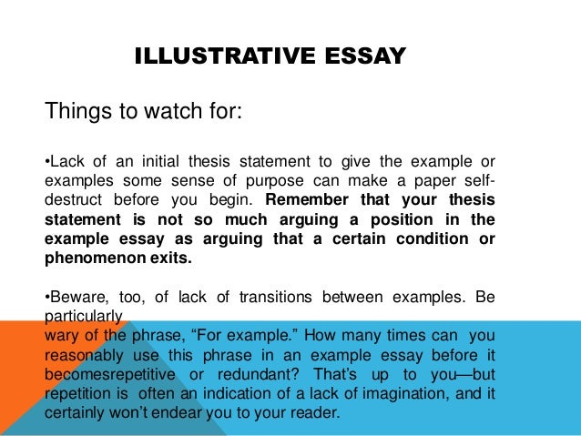 Illustrative essay example