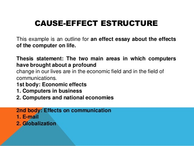 a cause and effect essay
