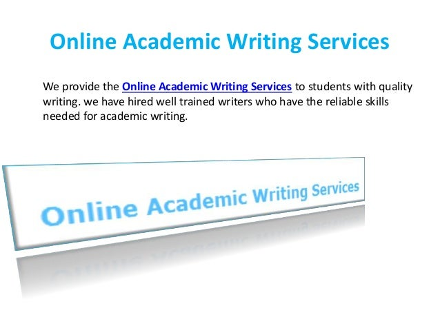 Online academic writing services