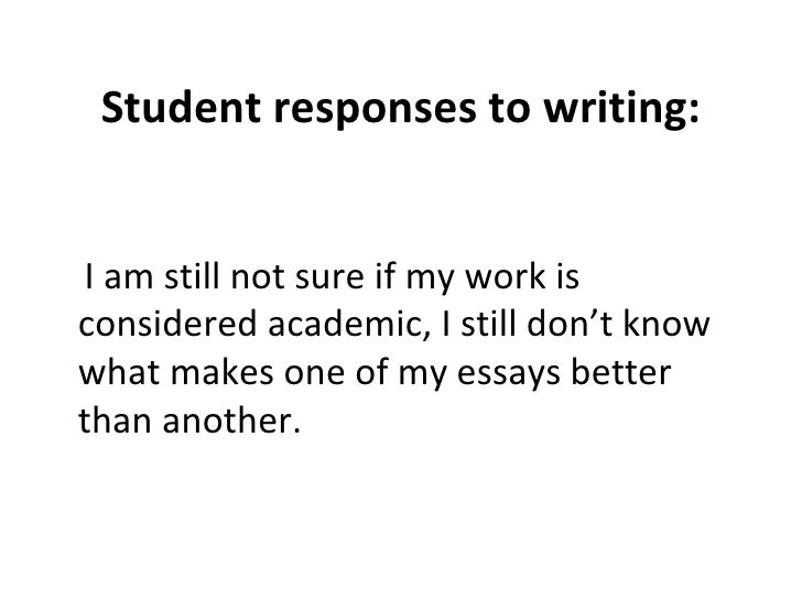 I was wondering, If my essay is good or not?