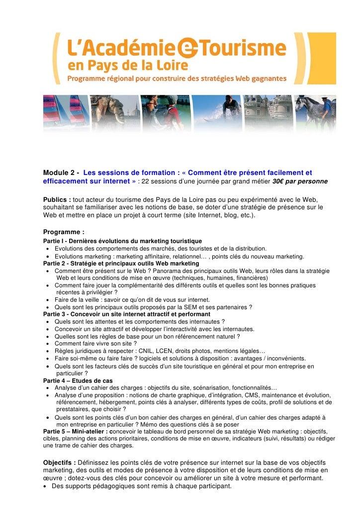 Academie e-tourisme