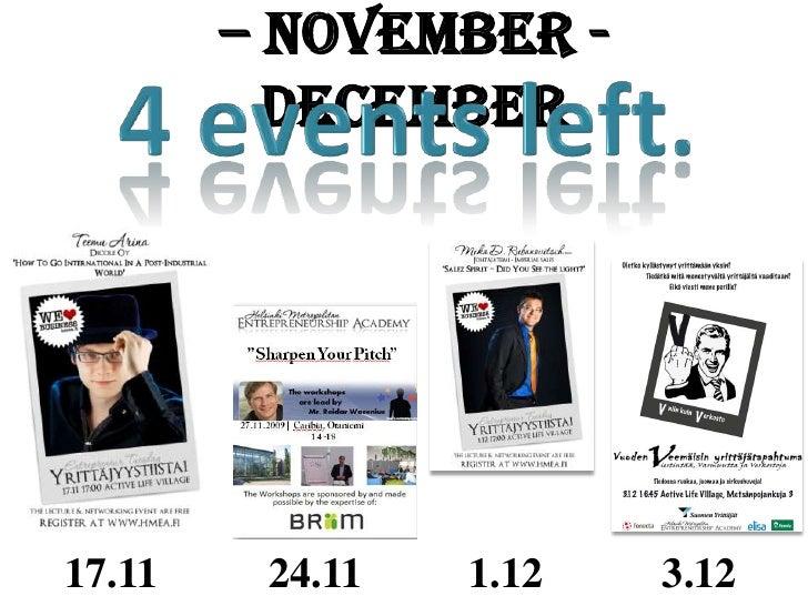 Academy Newsletter November & December