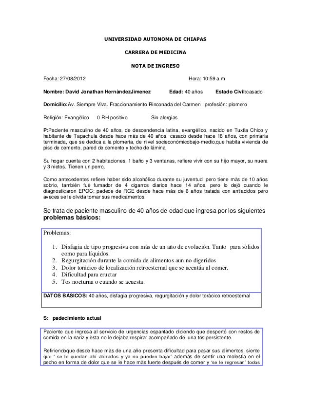 UNIVERSIDAD AUTONOMA DE CHIAPAS                                   CARRERA DE MEDICINA                                     ...