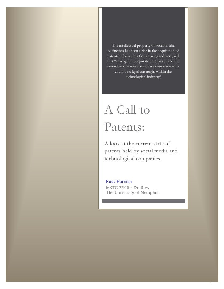 A Call to Patents