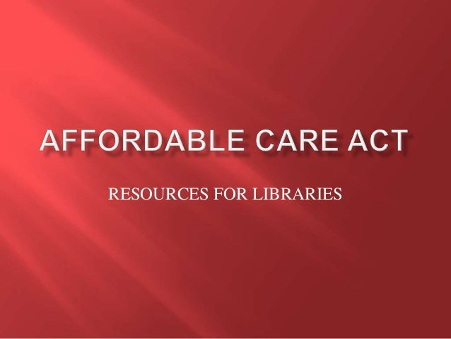 NCompass Live: Affordable Care Act Resources for Libraries