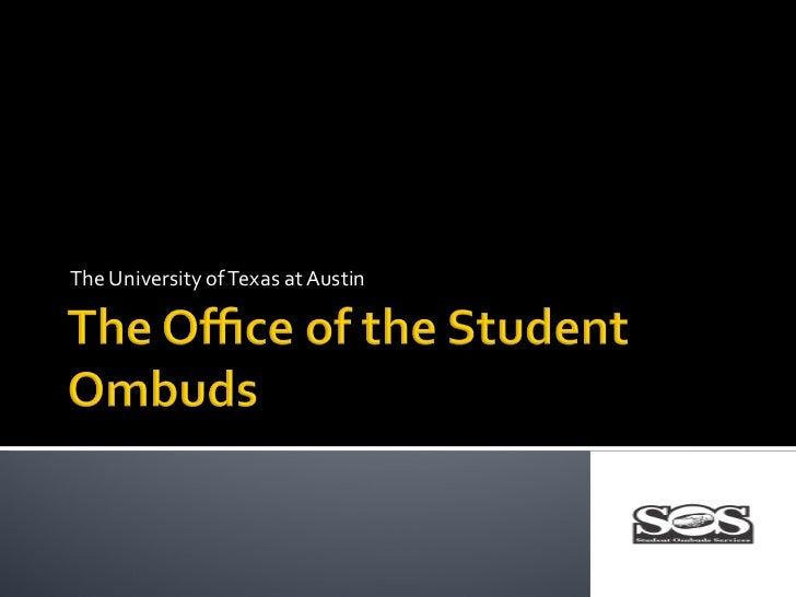 The Office of the Student Ombuds March 2012