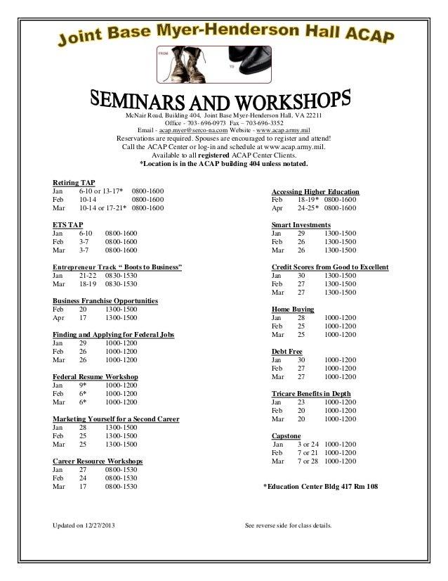 Acap schedule jan mar 2014