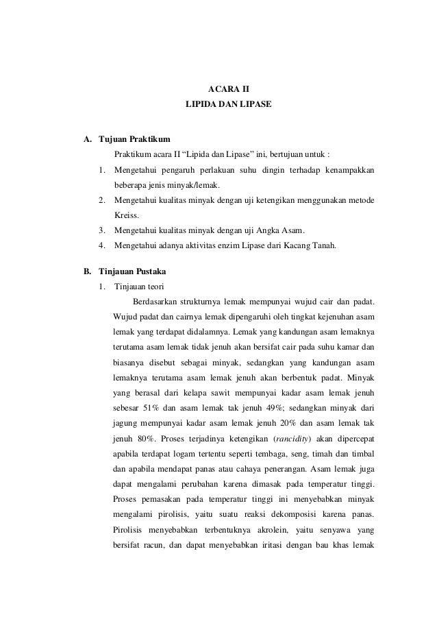 Laporan Kimia Pangan ITP UNS SMT3 Lipida dan Lipase