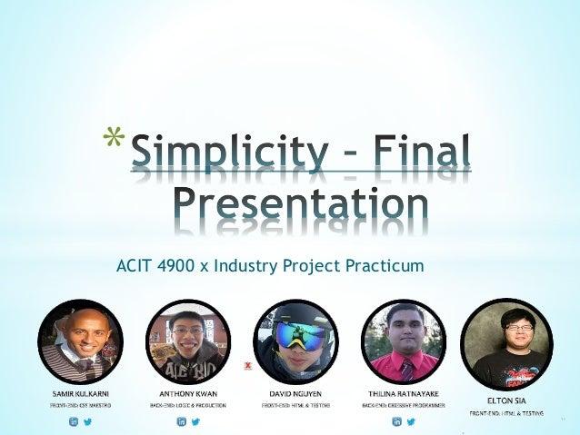A-Card Android App Final Presentation TEAM SIMPLICITY