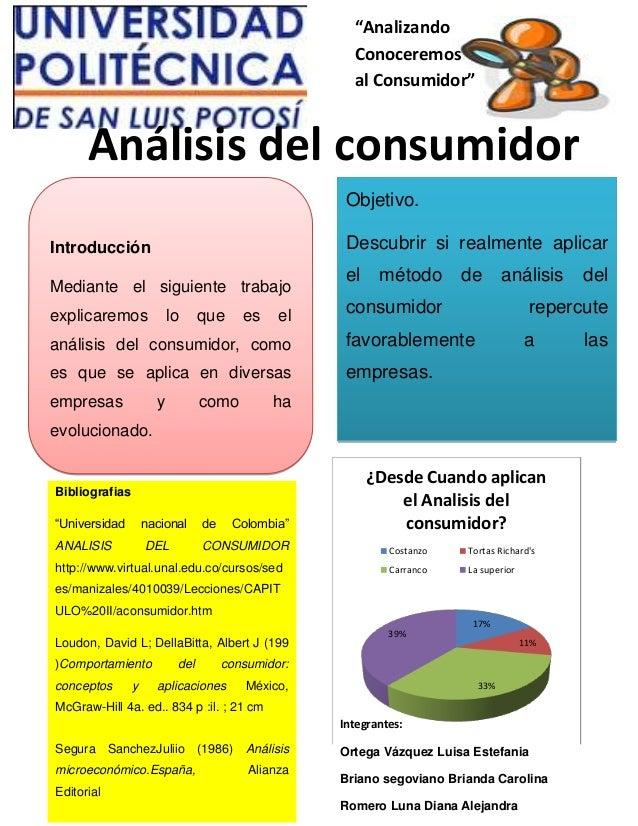 """""""AnalizandoConoceremosal Consumidor""""Análisis del consumidorObjetivo.Descubrir si realmente aplicarel método de análisis de..."""
