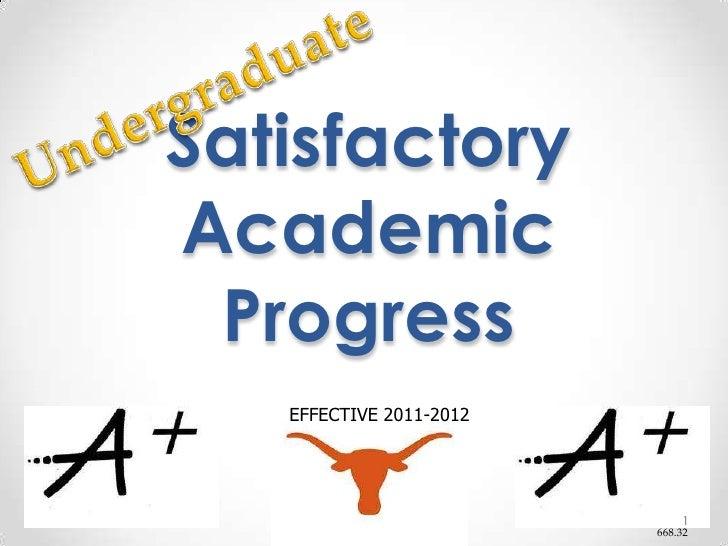 Undergraduate<br />Satisfactory Academic Progress<br />EFFECTIVE 2011-2012<br />668.32<br />1<br />