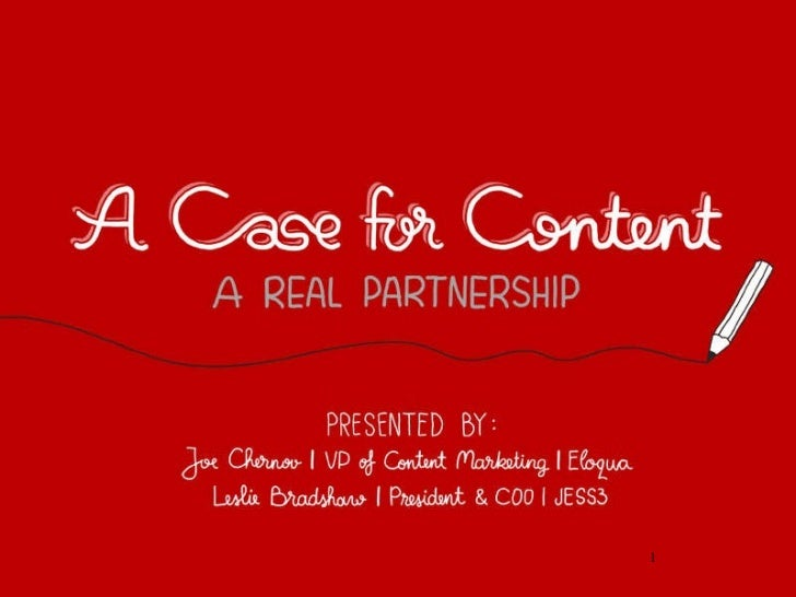 A Case For Content