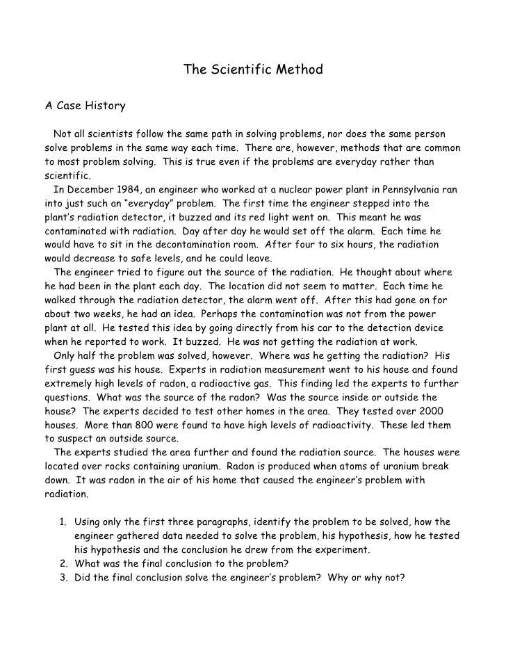 A case history