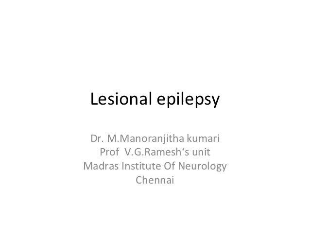 Lesional epilepsy