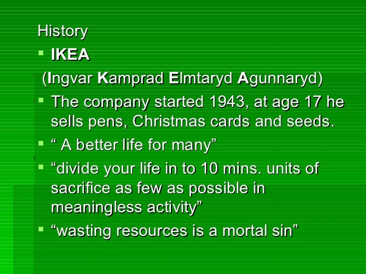 case analysis ingvar kamprad and ikea essay View this case study on ingvar kamprad and ikea case study management on the basis of information provided concerning ingvar kamprad and ikea the organizational.