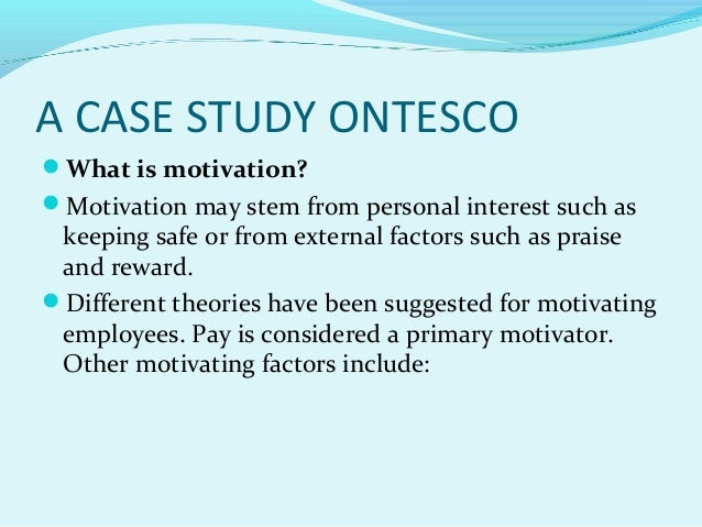 case study on motivation with solutions We expose a sample case study showing its method as an effective approach to conducting business researches and present a simple solution for case studies.