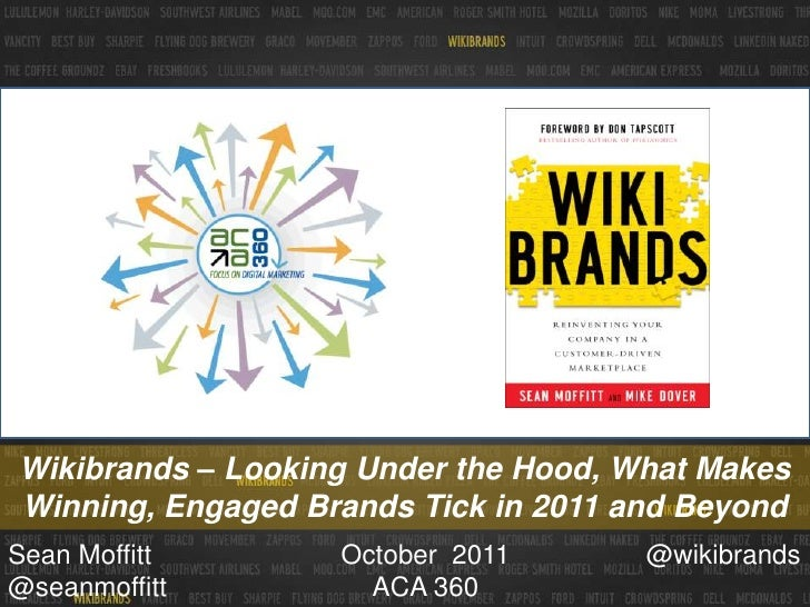Wikibrands - Looking Under the Hood, What Makes Winning, Engaged Brands Tick in 2011 and Beyond - ACA Presentation - October 2011