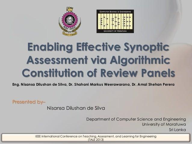Eng. Nisansa Dilushan de Silva, Dr. Shahani Markus Weerawarana, Dr. Amal Shehan Perera Presented by– Nisansa Dilushan de S...
