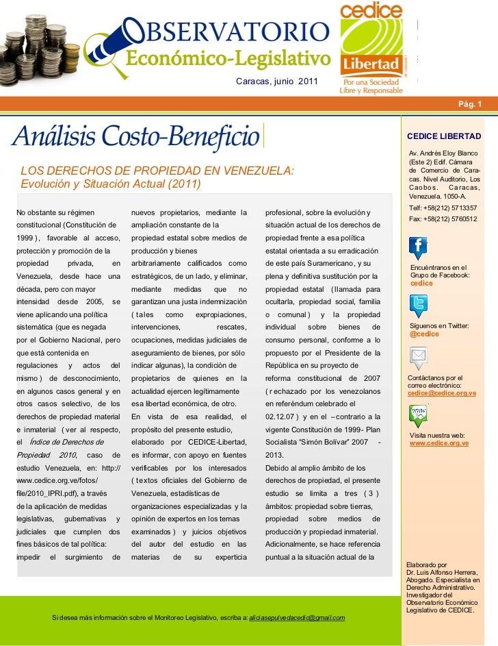 Análisis Costo-Beneficio de los Derechos de Propiedad en Venezuela