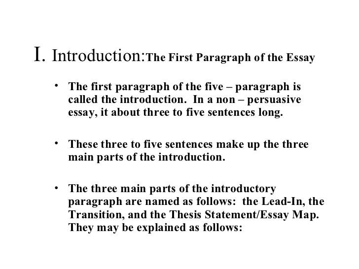 introductory paragraph-thesis