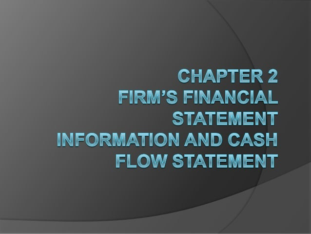 Firm's financial information  A firm's financial information refers to results of business operation within a specific ti...