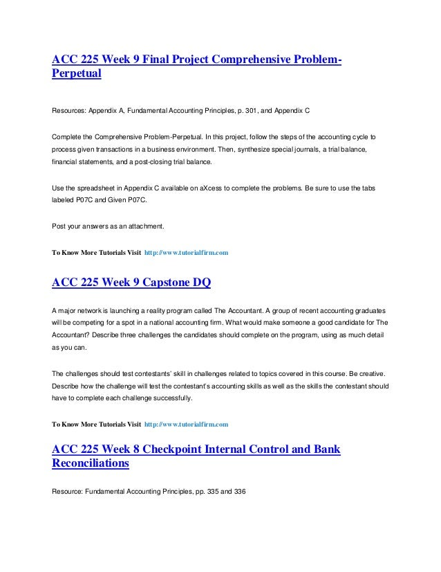 acc 225 final project comprehensive problem perpetual Final project comprehensive problem-perpetual 7-5a i need help with comprehensive problem-perpetual project • complete the comprehensive problem-perpetual in this project, follow the.