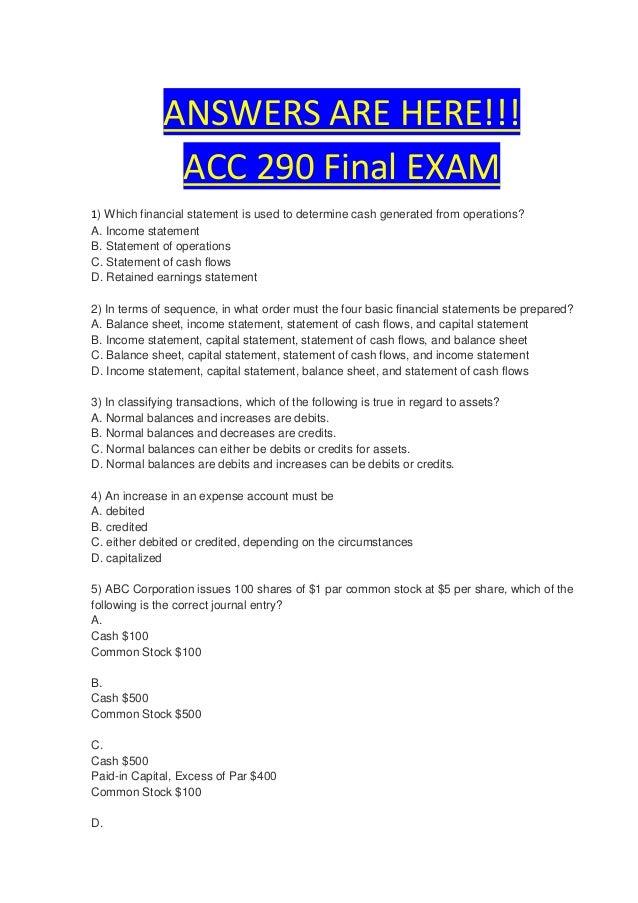 final exam financial statement Fin 382 final exam - financial statement analysis.