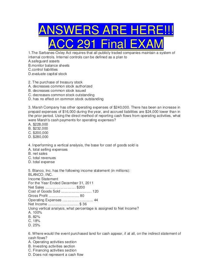acc 290 final exam answer key