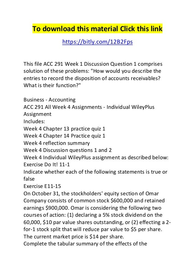 acc 291 accounting summary Part 2 complete a 1,050-word summary of findings and recommendations from the following questions: acc 291 week 5 assignment financial reporting problem ii.