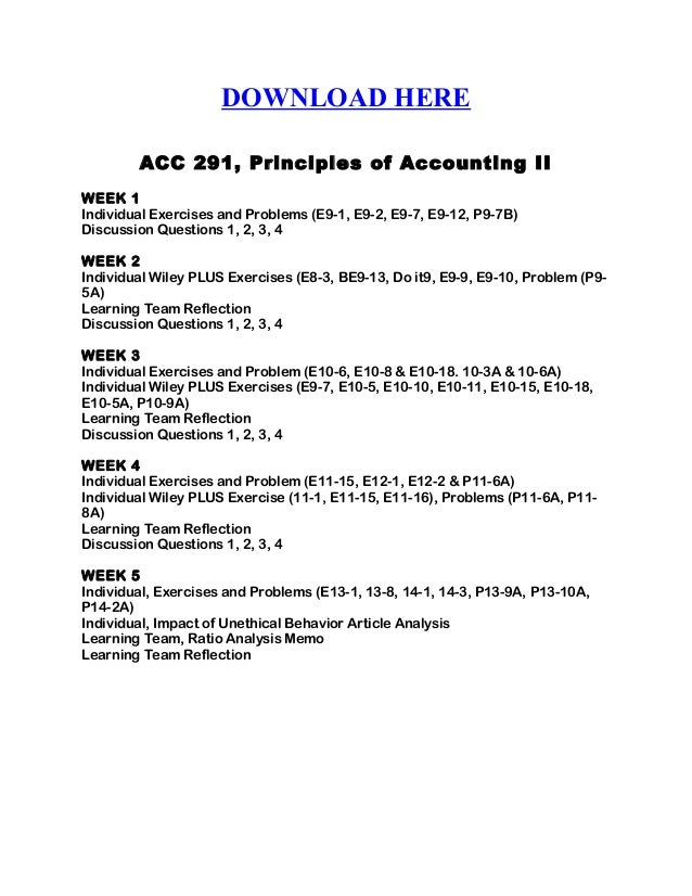 accounting ii week 2 exercises and A maximum of 3 hours for additional language in grades r – 2 in grade 3 a   textbook accounting stationery 1 week (week 10) revision exercises.