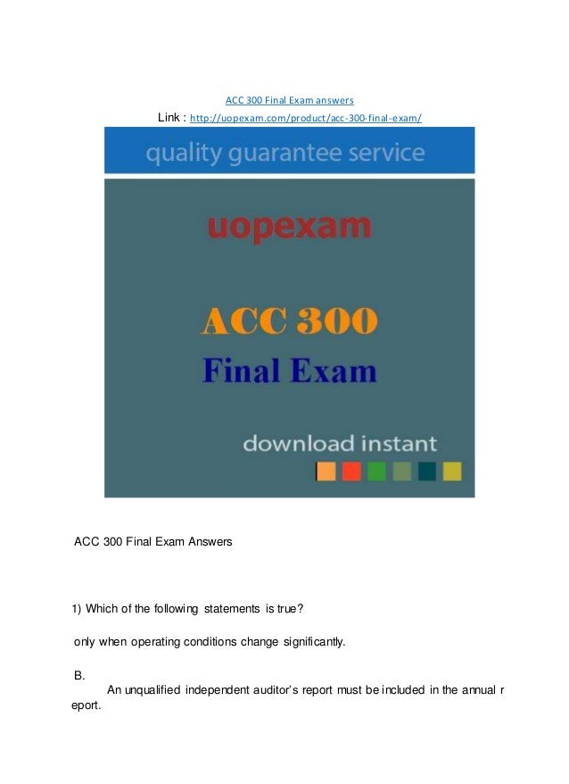 """acc 300 final exam Be the first to review """"ldr 300 final exam"""" cancel reply you must be logged in to post a comment related products acc 290 final exam answers $1900 $900."""