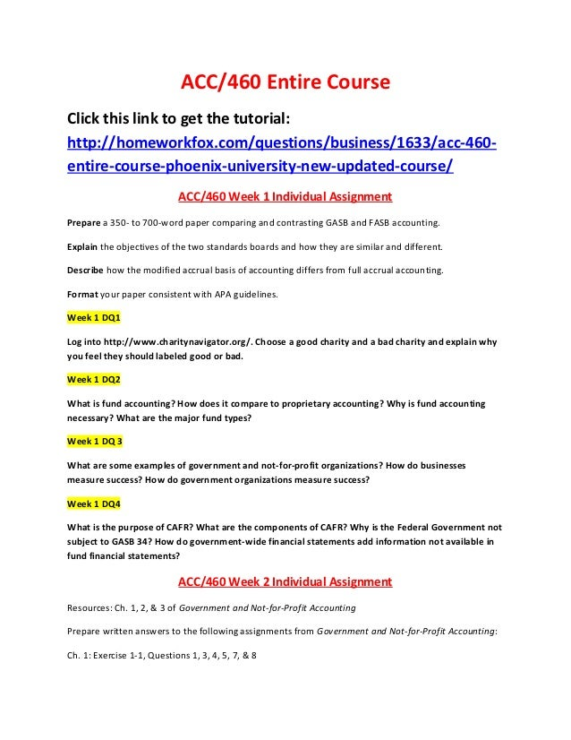 ACC/460 Entire CourseClick this link to get the tutorial:http://homeworkfox.com/questions/business/1633/acc-460-entire-cou...