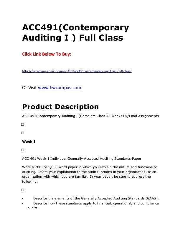 acc 491 syllabus